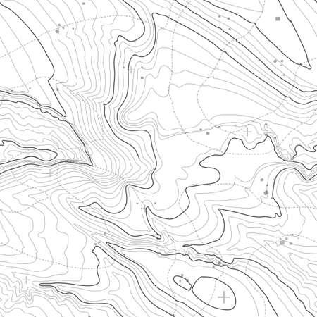 Carte topographique, fond, concept avec un espace pour votre copie. lignes de topographie art contour, chemin de montagne, la conception de forme. généré ordinateur.