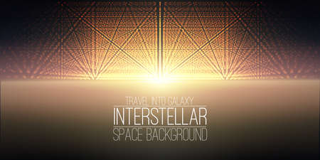 interstellar: interstellar space background.Cosmic galaxy illustration.Background with nebula, stardust and bright shining stars.