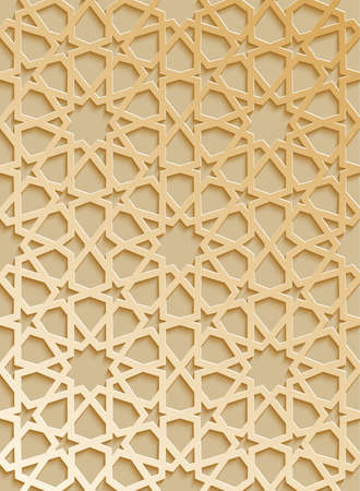 Seamless pattern 3d . Traditional Arabic design.