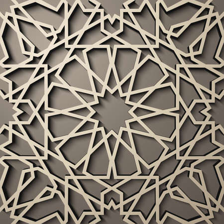 continued: Background with 3d seamless pattern in style