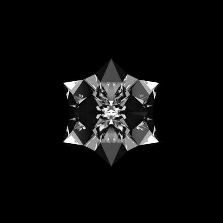 quartz crystal: Quartz crystal growing on black background isolated