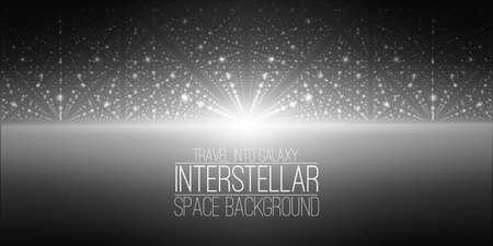 interstellar: interstellar space background.Cosmic galaxy illustration.Background with nebula, stardust and bright shining stars.