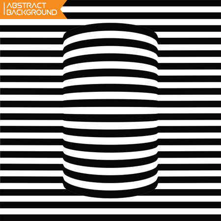 trickery: A black and white spiral optical illusion