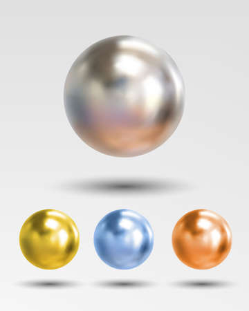 perl: ball realistic isolated on white background Illustration