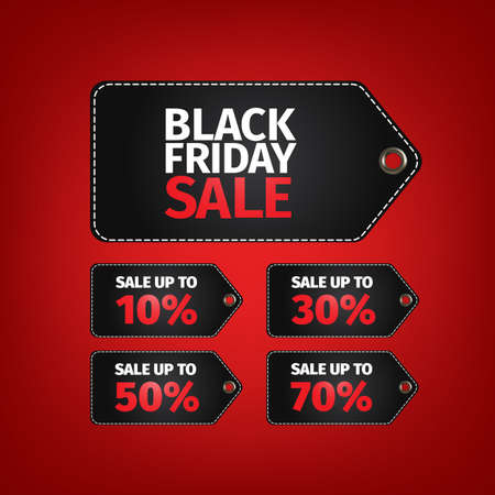 furnishings: Black Friday sale tag. No open shapes or paths . Clothes, furnishings, cars, food sale . Black friday design, sale, discount, advertising, marketing price tag.