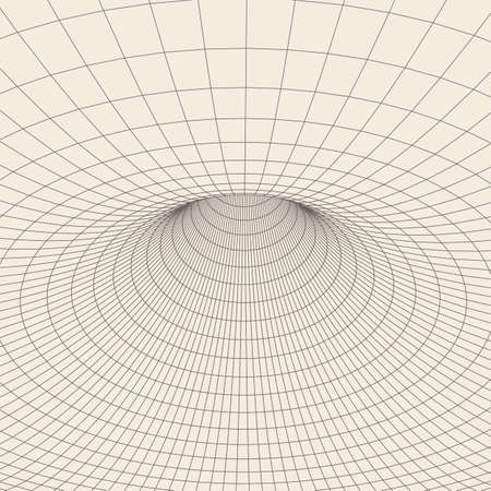 torus: Wireframe mesh polygonal element. Torus with connected lines and dots. Illustration
