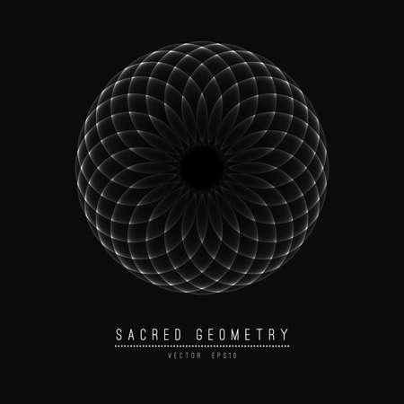 Blume des Lebens. Heilige Geometrie. Symbol der Harmonie und Gleichgewicht.