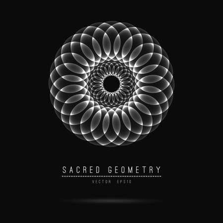 Fleur de Vie. Géométrie sacrée. Symbole de l'harmonie et de l'équilibre.