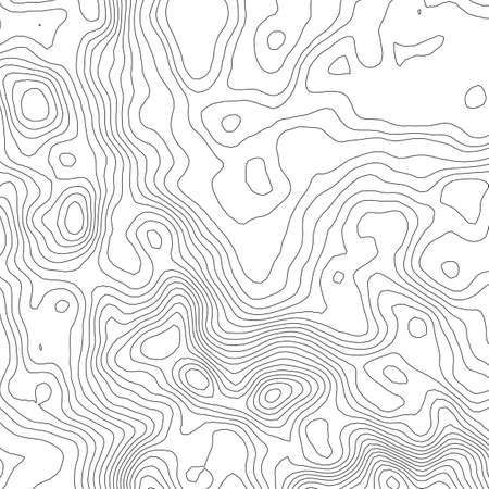 hiking trail: Topographic map background concept with space for your copy. Topography lines art contour , mountain hiking trail , Shape  design.