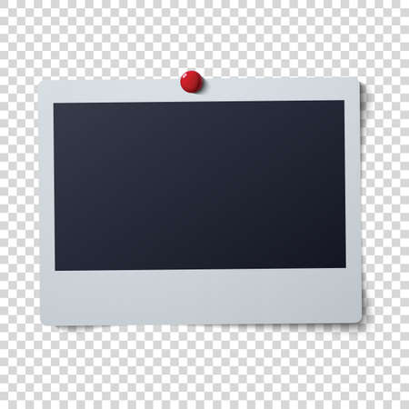 instant photo: frame vector illustration . Instant photo with black space for image