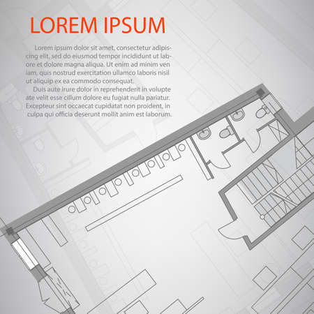 architectural plan: Detailed architectural plan. Eps