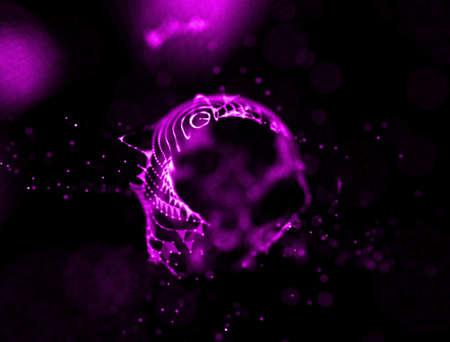 fire purple abstact background . Underwater concept background