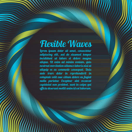 variable: Abstract vector background, waved lines vector illustration colorful design. Wavy stripes twisted as silk . Colored stripes with variable width. Fashion , Illustration