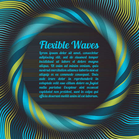 wrinkly: Abstract vector background, waved lines vector illustration colorful design. Wavy stripes twisted as silk . Colored stripes with variable width. Fashion , Illustration