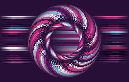 width: Abstract vector background, waved lines vector illustration colorful design. Wavy stripes twisted as silk . Colored stripes with variable width. Fashion , Illustration