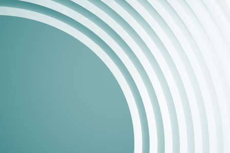 Abstract Architecture Background. Empty White Futuristic Room. 3d Render Stock Photo