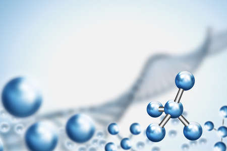Abstract background . DNA molecule with X Stock Photo