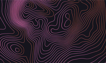 Dark colorful topographic map design trail