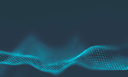 Abstract Blue Geometrical Background . Connection structure. Science background. Futuristic Technology HUD Element . Ð¡onnecting dots and lines . Big data visualization and Business .