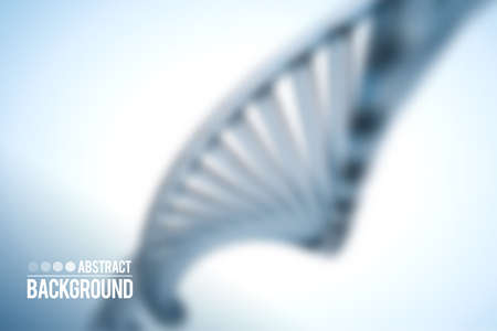 Abstract vector background . DNA molecule with X chromosomes