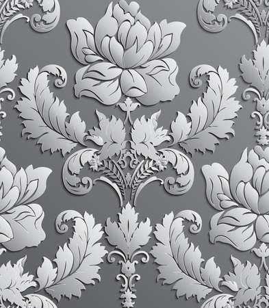 victorian wallpaper: Wallpaper in the style of Baroque . damask seamless floral pattern . Rose ornament .