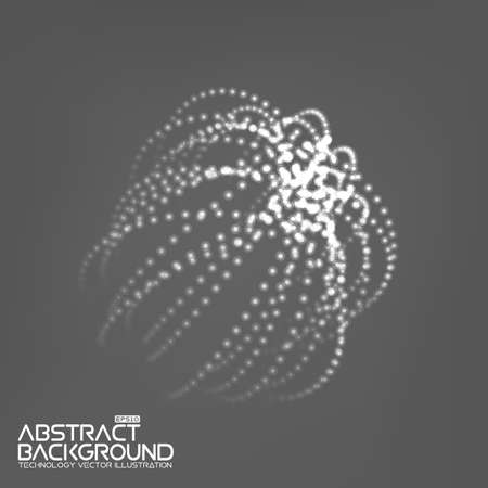 mesh: Abstract 3d Illuminated distorted Mesh Sphere . Neon Sign . Futuristic Technology HUD Element . Elegant Abstract Destroyed Sphere . Big data visualization .