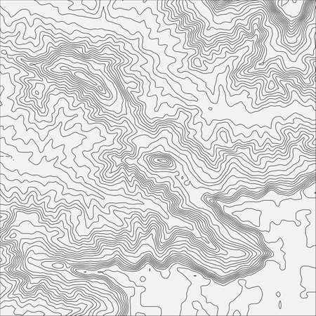 Topographic map background concept with space for your copy Topo contour map background, vector illustration Illustration