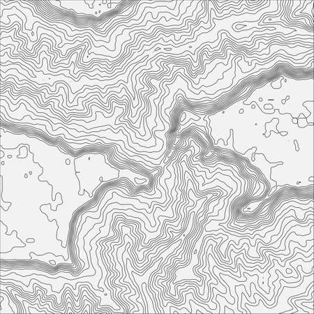 Topographic map background concept with space for your copy Topo contour map background, vector illustration Иллюстрация