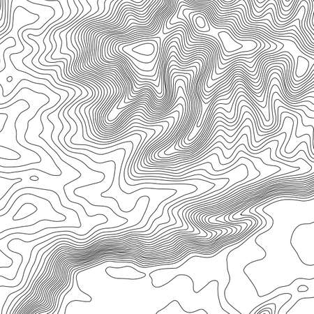 Topographic map background with space for copy . Line topography map contour background , geographic grid abstract vector illustration . Abstract geometric lines .