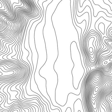 elevate: Topographic map background with space for copy. Line topography map contour background, geographic grid abstract vector illustration. Mountain hiking trail over terrain .