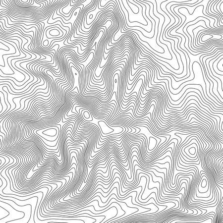 Topographic map background with space for copy . Line topography map contour background , geographic grid abstract vector illustration . Mountain hiking trail over terrain . Banco de Imagens