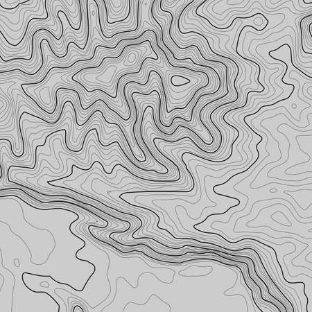 Line topography map contour background , geographic grid abstract vector illustration.
