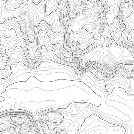Topographic map background with space for copy . Line topography map contour background , geographic grid abstract vector illustration . Mountain hiking trail over terrain . Vettoriali