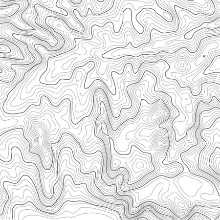 Topographic map background with space for copy . Line topography map contour background , geographic grid abstract vector illustration . Mountain hiking trail over terrain .  イラスト・ベクター素材