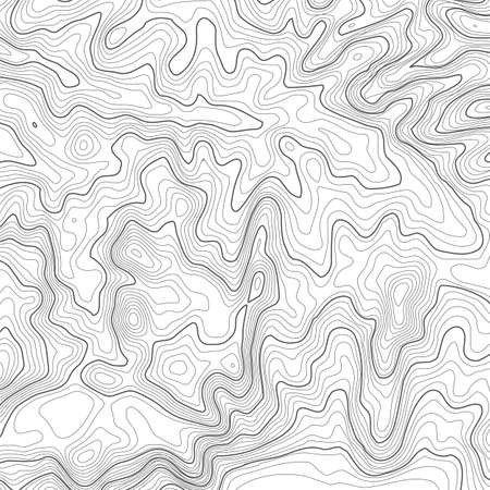 Topographic map background with space for copy . Line topography map contour background , geographic grid abstract vector illustration . Mountain hiking trail over terrain . Stock Illustratie
