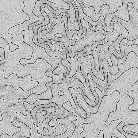 Topographic map background with space for copy. Line topography map contour background, geographic grid abstract vector illustration. Mountain hiking trail over terrain
