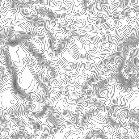 Seamless pattern. Topographic map background with space for copy Seamless texture. Line topography map contour background , geographic grid abstract vector illustration . Illustration
