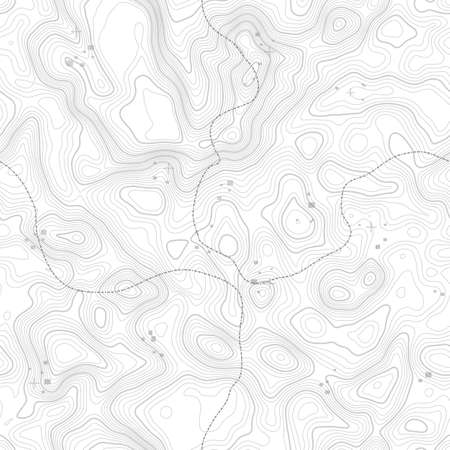 Seamless pattern. Topographic map background with space for copy Seamless texture. geographic grid abstract vector illustration . Mountain hiking trail terrain . Ilustrace
