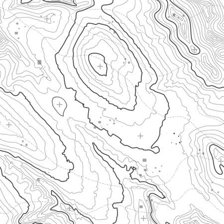 Seamless pattern. Topographic map background with space for copy Seamless texture. geographic grid abstract vector illustration . Mountain hiking trail terrain . Banco de Imagens - 82350163