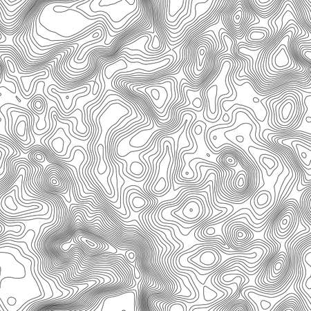 Seamless pattern. Topographic map background with space for copy Seamless texture. geographic grid abstract vector illustration . Mountain hiking trail terrain . Illustration