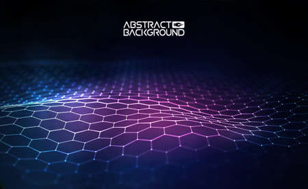Ilustración de vector de hexágono futurista Ilustración de vector de hexágono futurista Elemento de HUD Concepto de tecnología. Inteligencia artificial. Big data Ilustración de vector