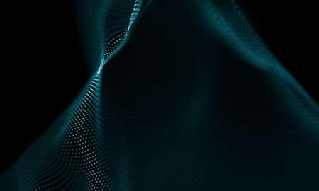 추상적 인 푸른 기하학적 배경입니다. 미래의 기술 스타일입니다. 네온 사인. 미래 기술 HUD 요소. 우아한 추상적 인 배경입니다. 빅 데이터 시각화.