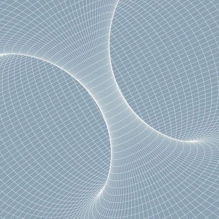 Wireframe torus with connected lines and dots . Mesh polygonal element. Vector Illustration EPS10. Vector Illustration