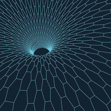 donut style: Wireframe mesh polygonal element. Illustration