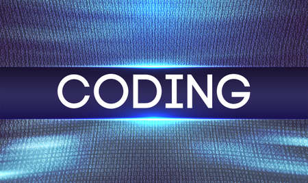 Programming code abstract technology vector