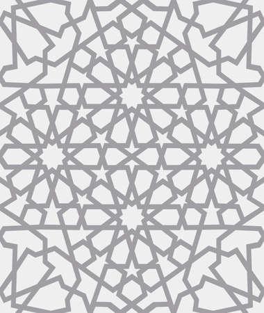 Islamitisch patroon. Naadloos Arabisch geometrisch patroon, Oost-ornament, Indisch ornament, Perzisch motief, 3D. Eindeloze textuur kan worden gebruikt voor behang, patroonvullingen, webpagina achtergrond.