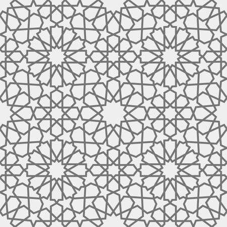Patrón islámico Patrón geométrico árabe sin fisuras, ornamento oriental, ornamento indio, motivo persa, 3D.