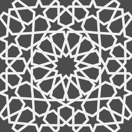 Islamic pattern . Seamless arabic geometric pattern, east ornament, indian ornament, persian motif, 3D. Endless texture can be used for wallpaper, pattern fills, web page background . Vectores