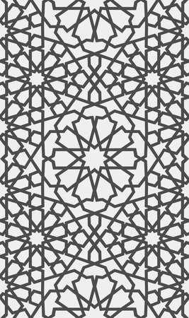 イスラムのパターン。アラビア語のシームレスな幾何学的なパターン、東飾り、インドの髪飾り、ペルシャのモチーフ、3 D。無限のテクスチャは、  イラスト・ベクター素材