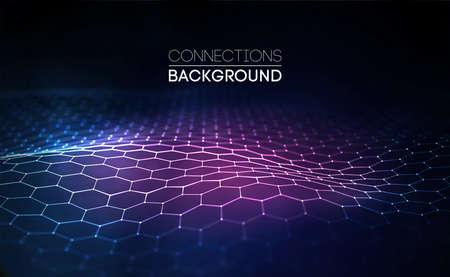 Futuristic honeycomb concept Illustration